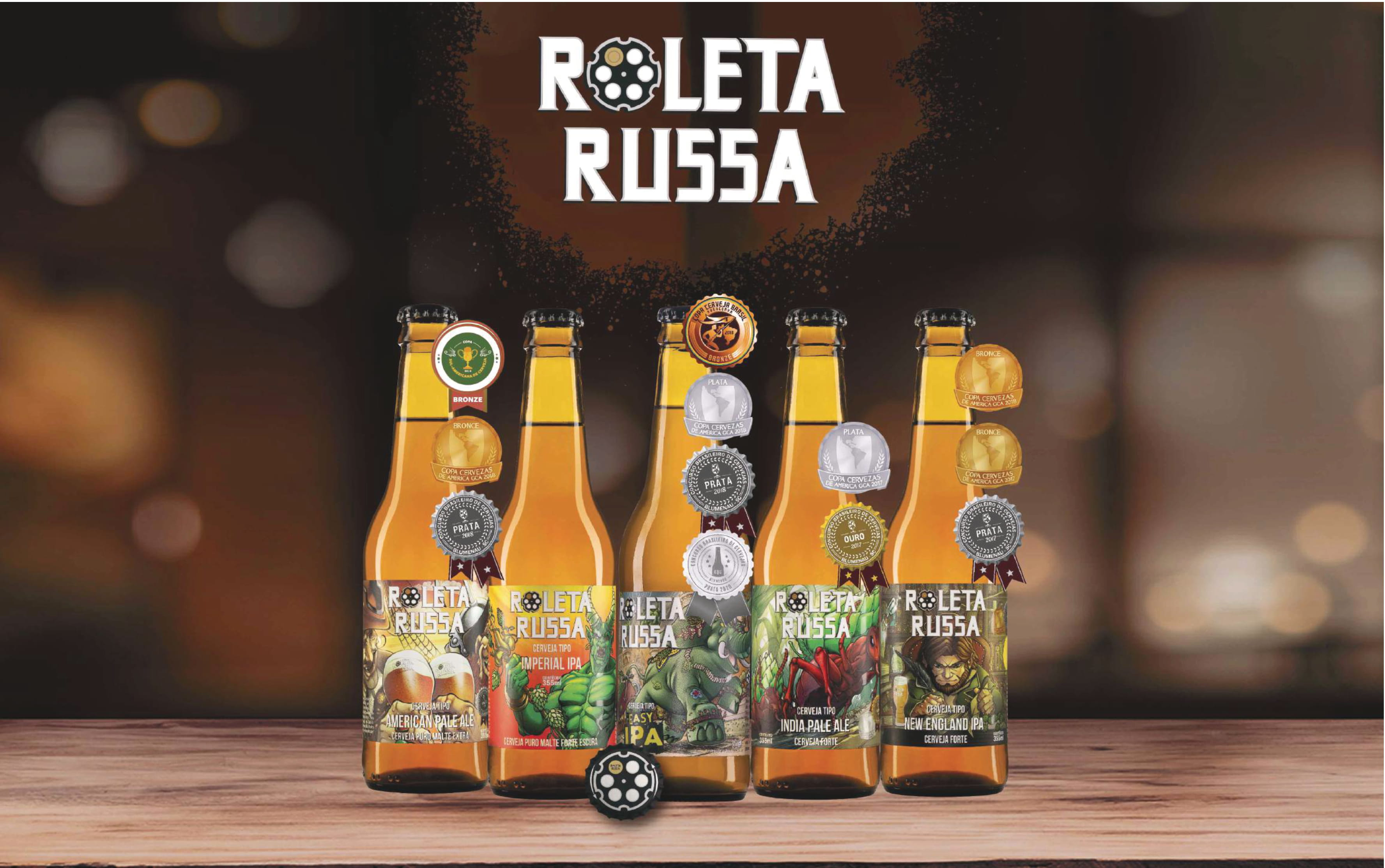 Cervejas Roleta Russa Long Neck