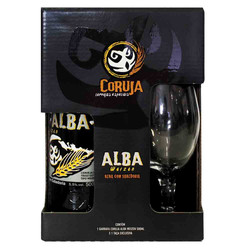 Kit Coruja Alba Weiss + copo