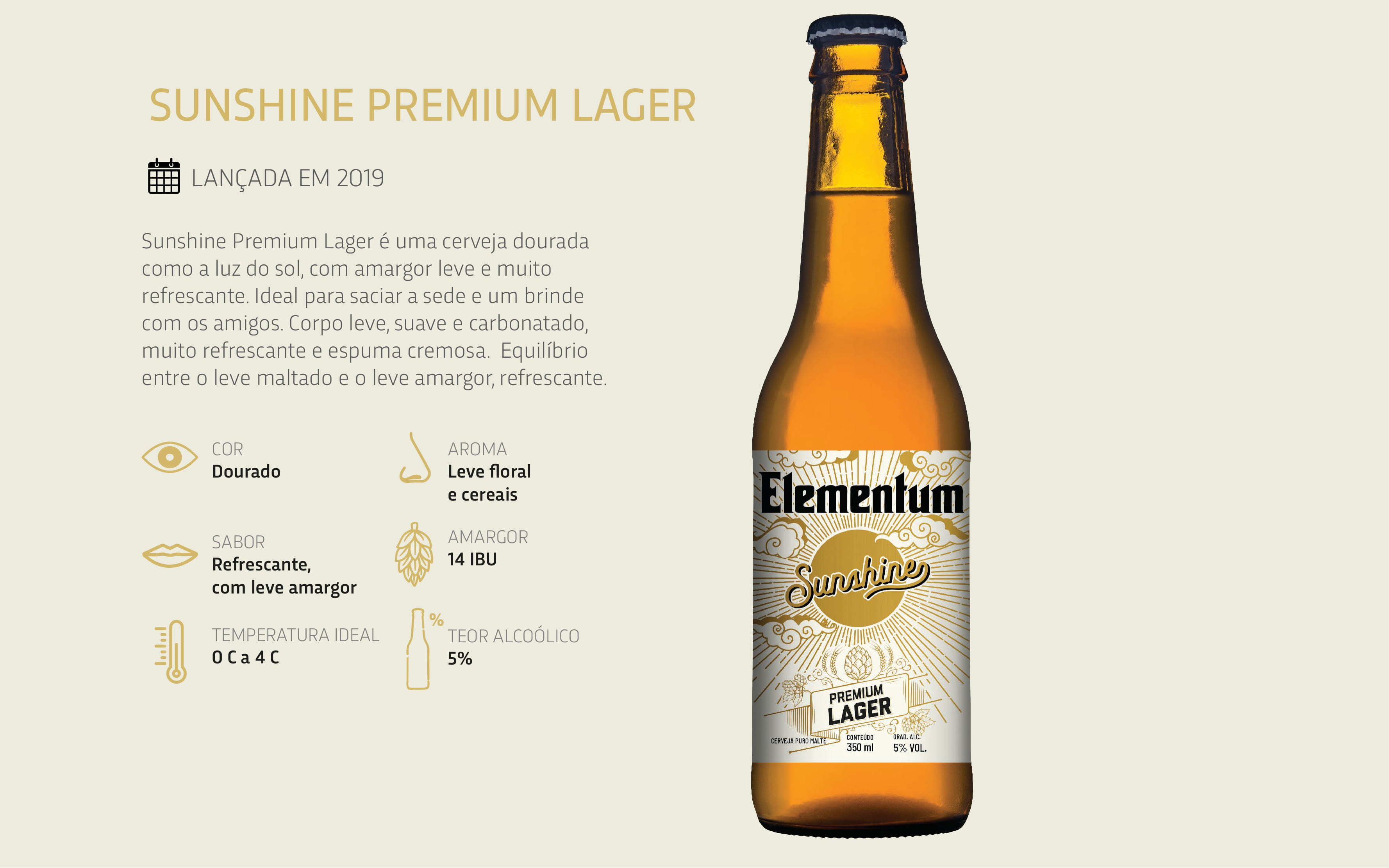 Cerveja Elementum Sunshine