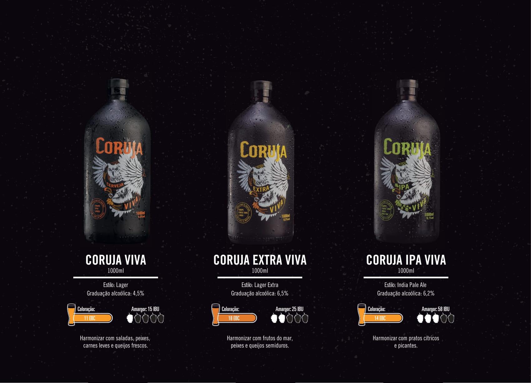 Cerveja Corujas Vivas Litro