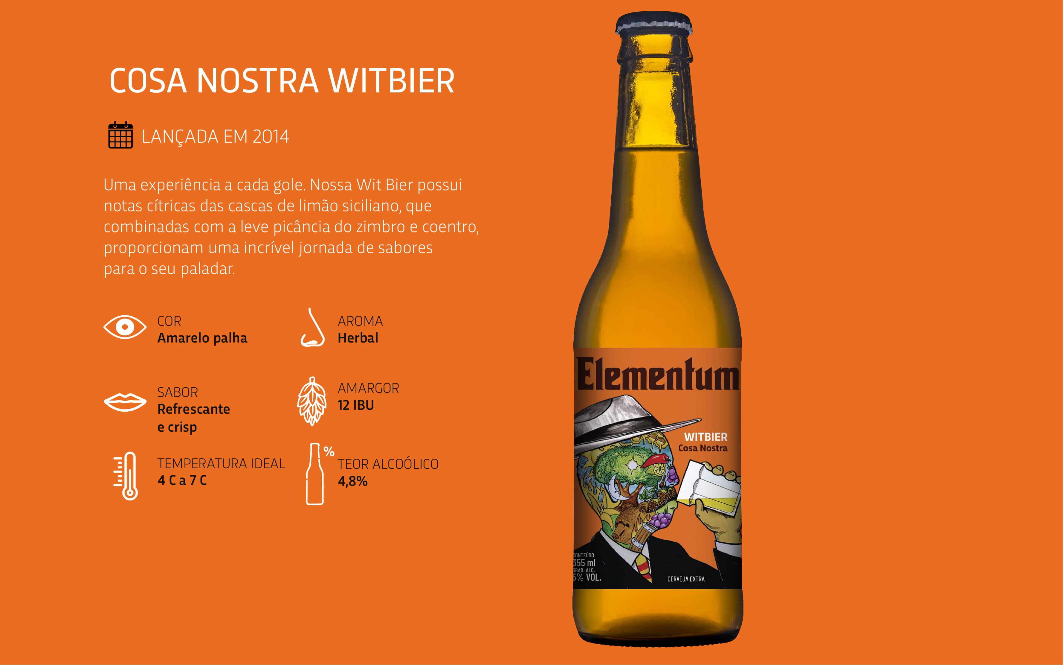 Cerveja Elementum Cosa Nostra
