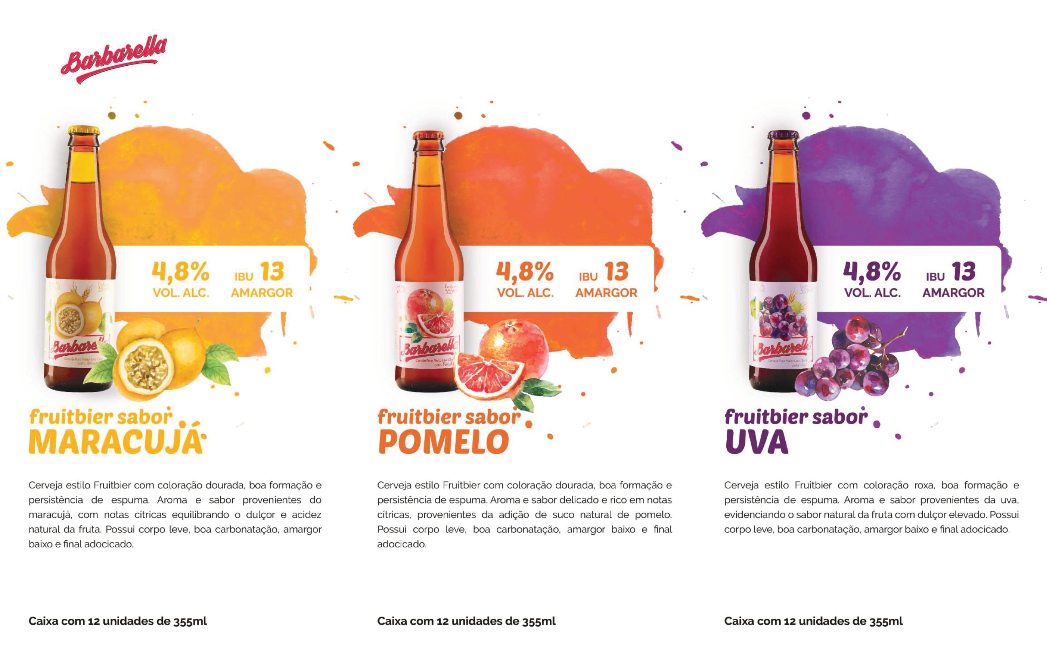 Cervejas Barbarella Estilos variados