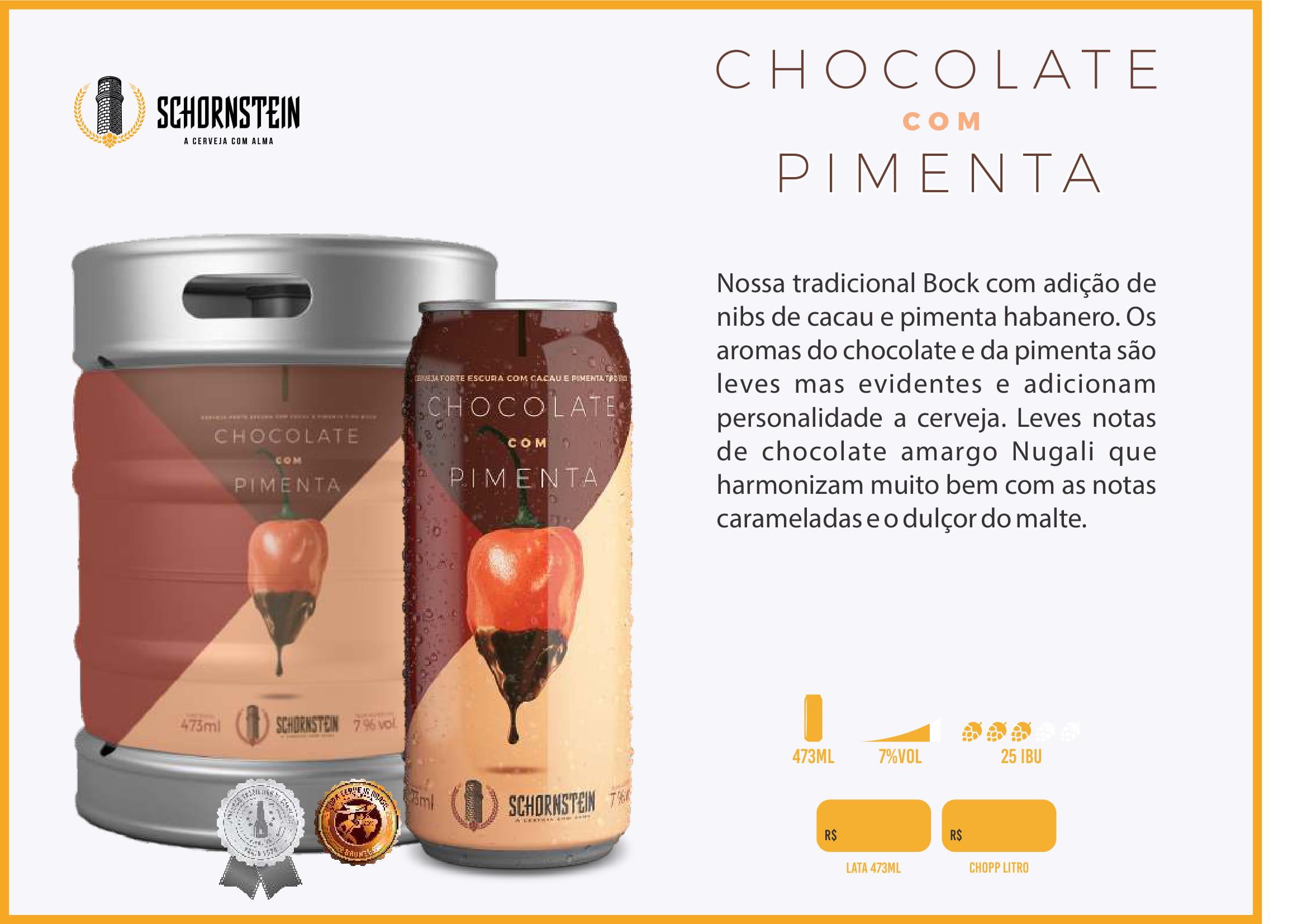 Schornstein Chocolate com pimenta