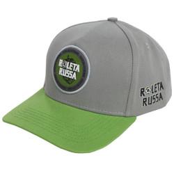 boné roleta russa verde e cinza