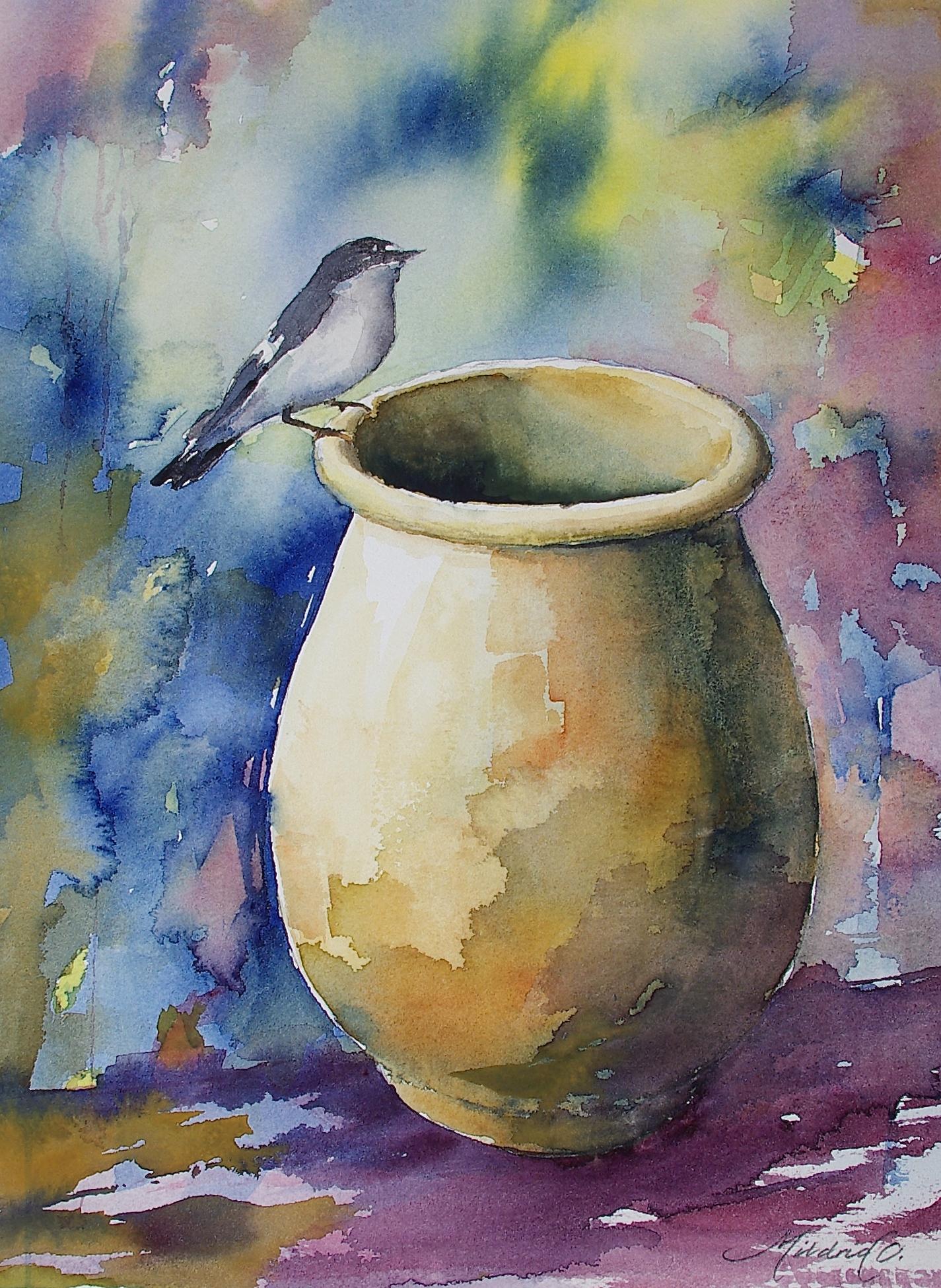 Fuglen og krukka
