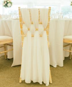 White Woven Chair Sash