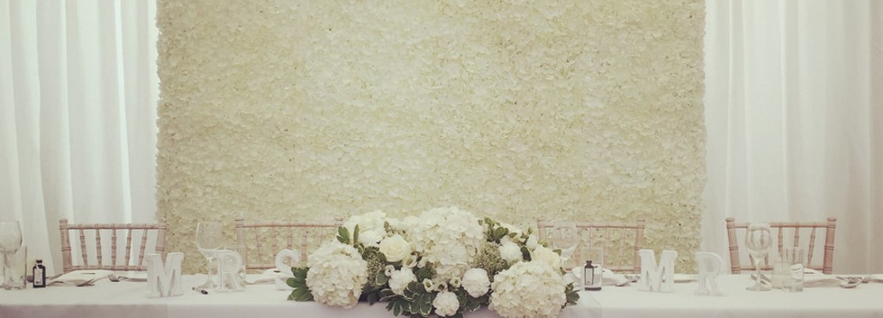 Wedding Flower Wall - top table