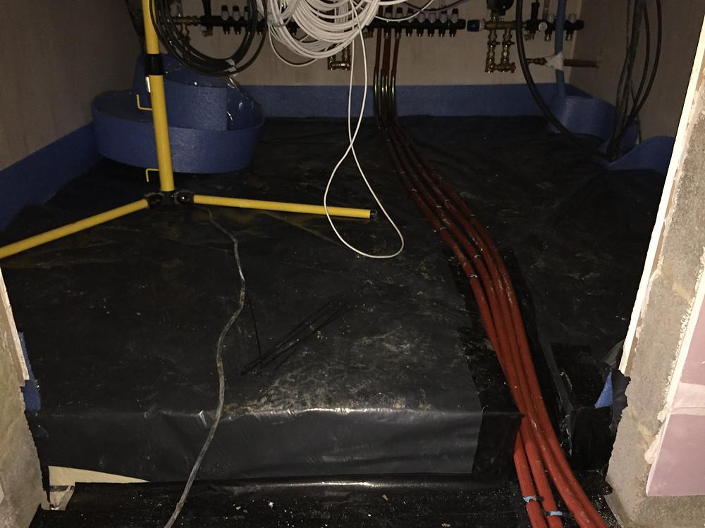 piped underfloor heating