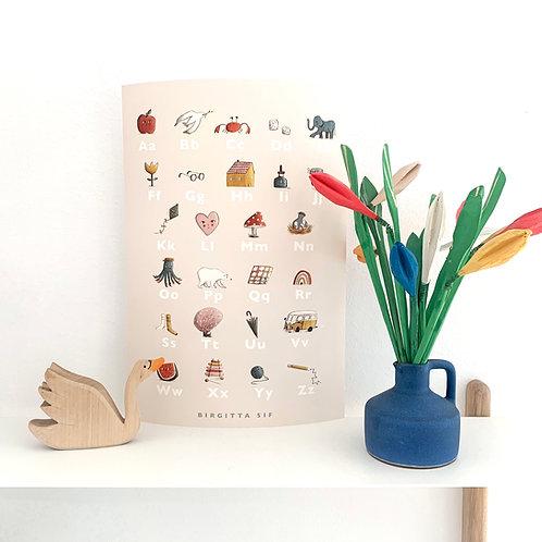 ABC poster- A4 Giclée Print