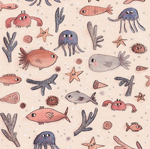 I've been drawing and making patterns 🐙