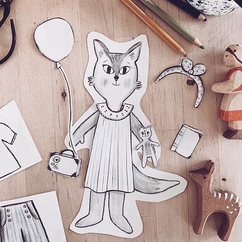 Fox Paper Doll
