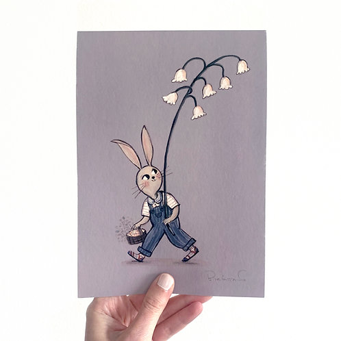 Rabbit the flower collector