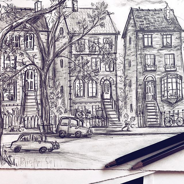 The pencil drawing from my final illustr