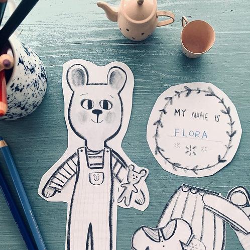 Bear Paper doll printable