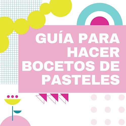 GUIA PARA DIBUJAR BOCETOS DE PASTELES