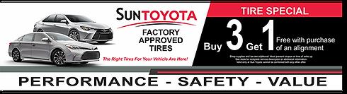 Sun Toyota Tire Merchandising Banner design