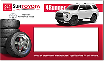 Sun Toyota Tire Insert Design