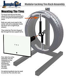 Mounting tire on lockable tire display