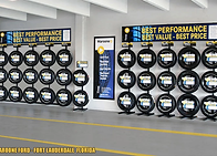AutoNation Maroone Ford Tire Merchndising Display Racks Prototype