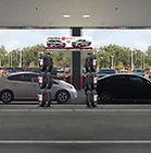 Sun Toyota Tire Merchandising Service drive