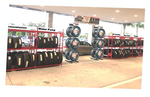 Sun Toyota Service Drive Tire Merchandsing Design