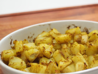 Batatas Assadas ao Curry