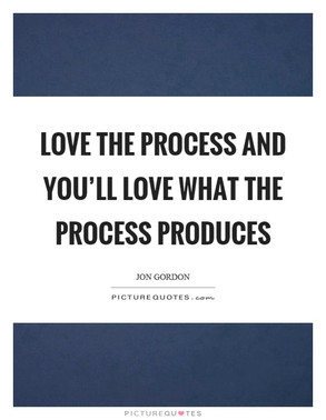 Have a plan, work the plan, love the process