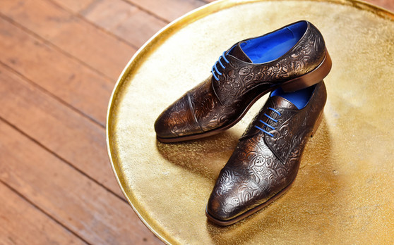 Dwight Grey Floral Calf Leather PLS A.jp