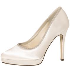 Tallulah Ivory Satin-Silver Fine Glitter