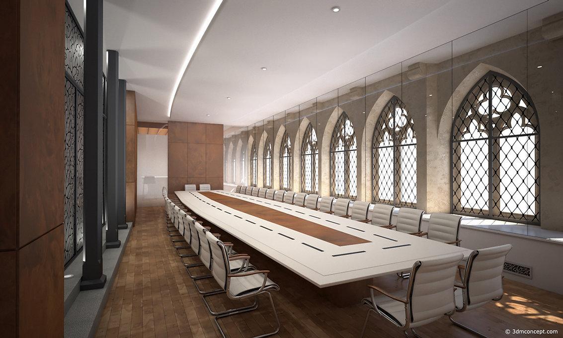 Visualisation Interieur 3D - Abbaye de Cluny Ensam, France - rendu architecture
