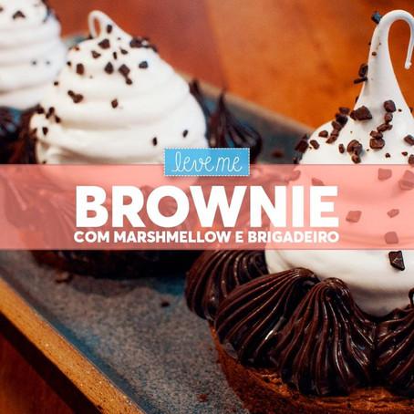 Brownie com marshmellow e brigadeiro