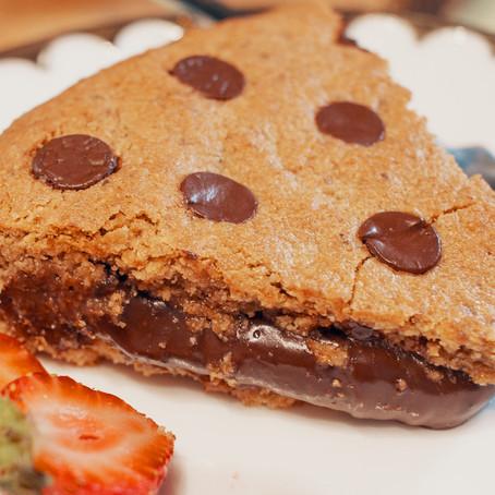 Torta de cookie com brigadeiro