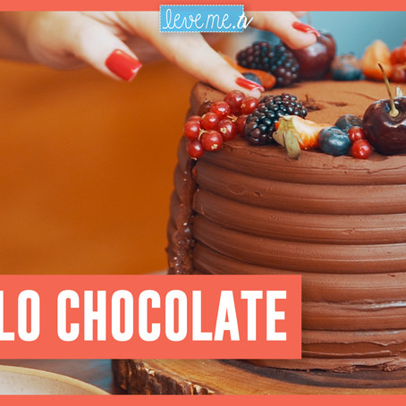 Bolo triplo chocolate