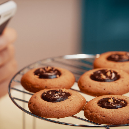 Cookies de pasta de amendoin