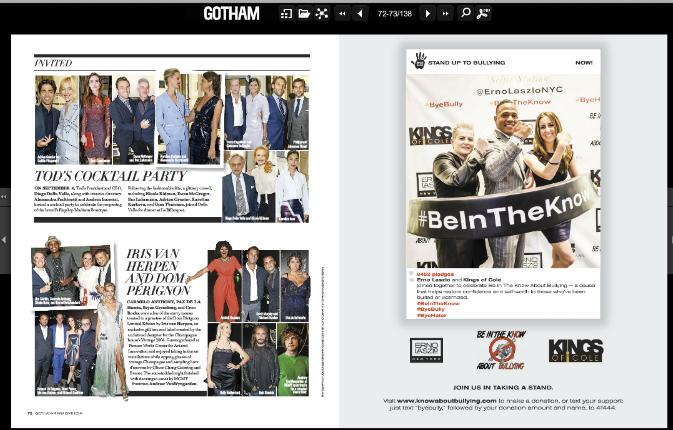 Gotham Magazine November 2014