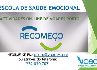 ESCOLA DE SAÚDE EMOCIONAL ON-LINE DE VOADES – PORTUGAL