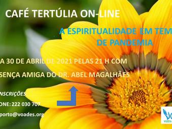 """CAFÉ-TERTÚLIA ON-LINE DO MES DE ABRIL NA VOADES:""""A ESPIRITUALIDADE EM TEMPOS DE PANDEMIA"""""""