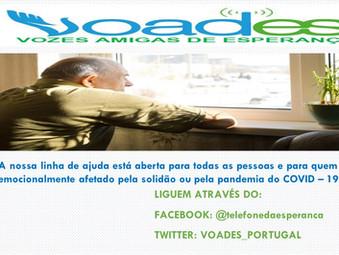 VOADES-Portugal: Ajuda emocional mesmo em situação de isolamento social