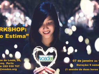"""Workshop de  """"AUTO-ESTIMA"""" inicia a 7 de Janeiro"""