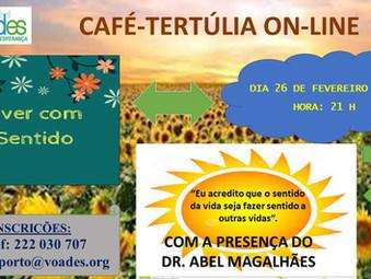 """CAFÉ-TERTÚLIA ON-LINE NA VOADES: """"VIVER COM SENTIDO"""""""