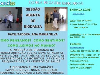 Sessão aberta de Biodança na Escola de Saúde Emocional da VOADES- Porto