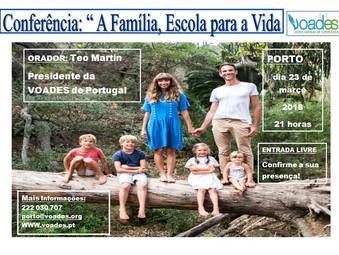 """""""A Família, Escola para a Vida"""" - Este é o tema de Março na Escola de Saúde Emocional."""