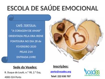 """Café- tertúlia na Escola de Saúde Emocional """"A coragem de Amar"""""""