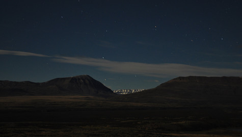 Midnight view at Eolo, El Calafate, Argentina (October 2013)