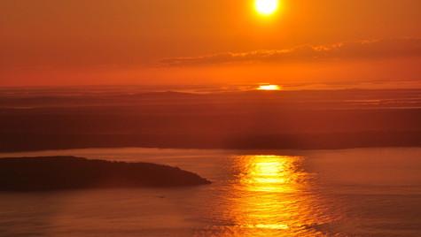 Sunrise over Bar Harbor, Maine (August 2017)