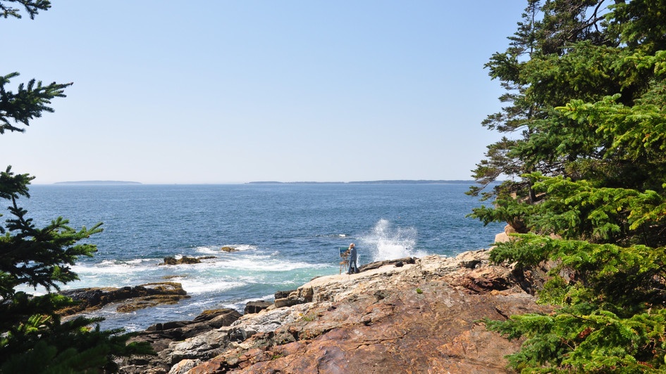 Painting Acadia, Maine (August 2017)