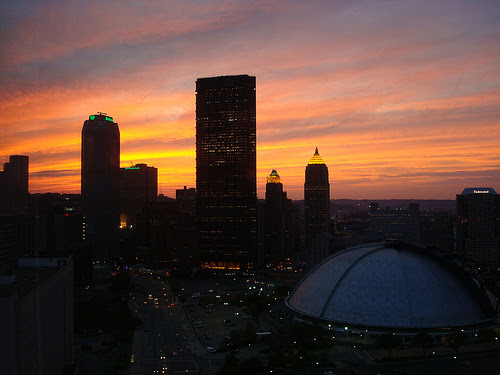 The sun set on the Igloo - Pittsburgh, PA (August 2007)