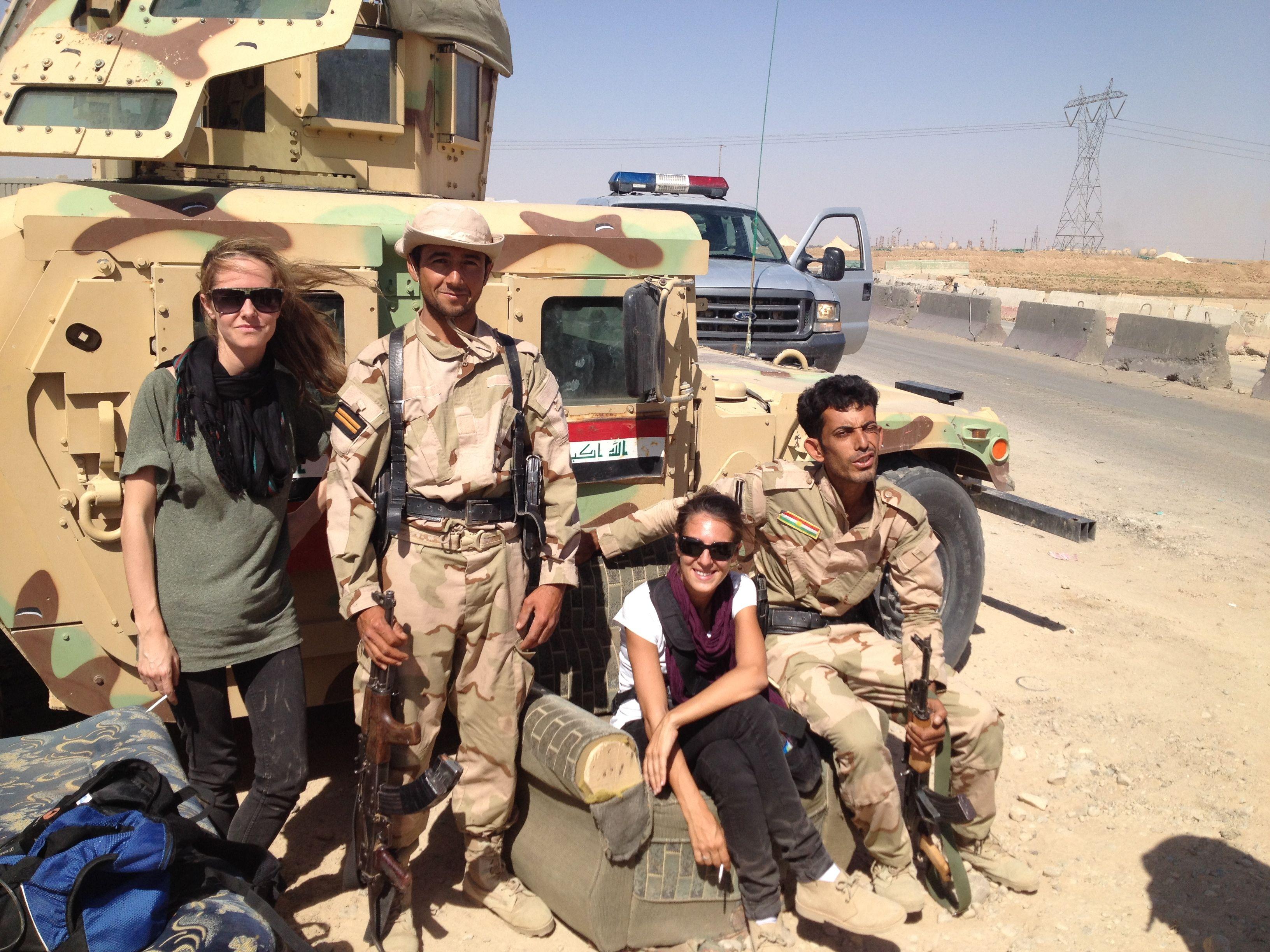 Con Laura J. Varo en Kirkuk