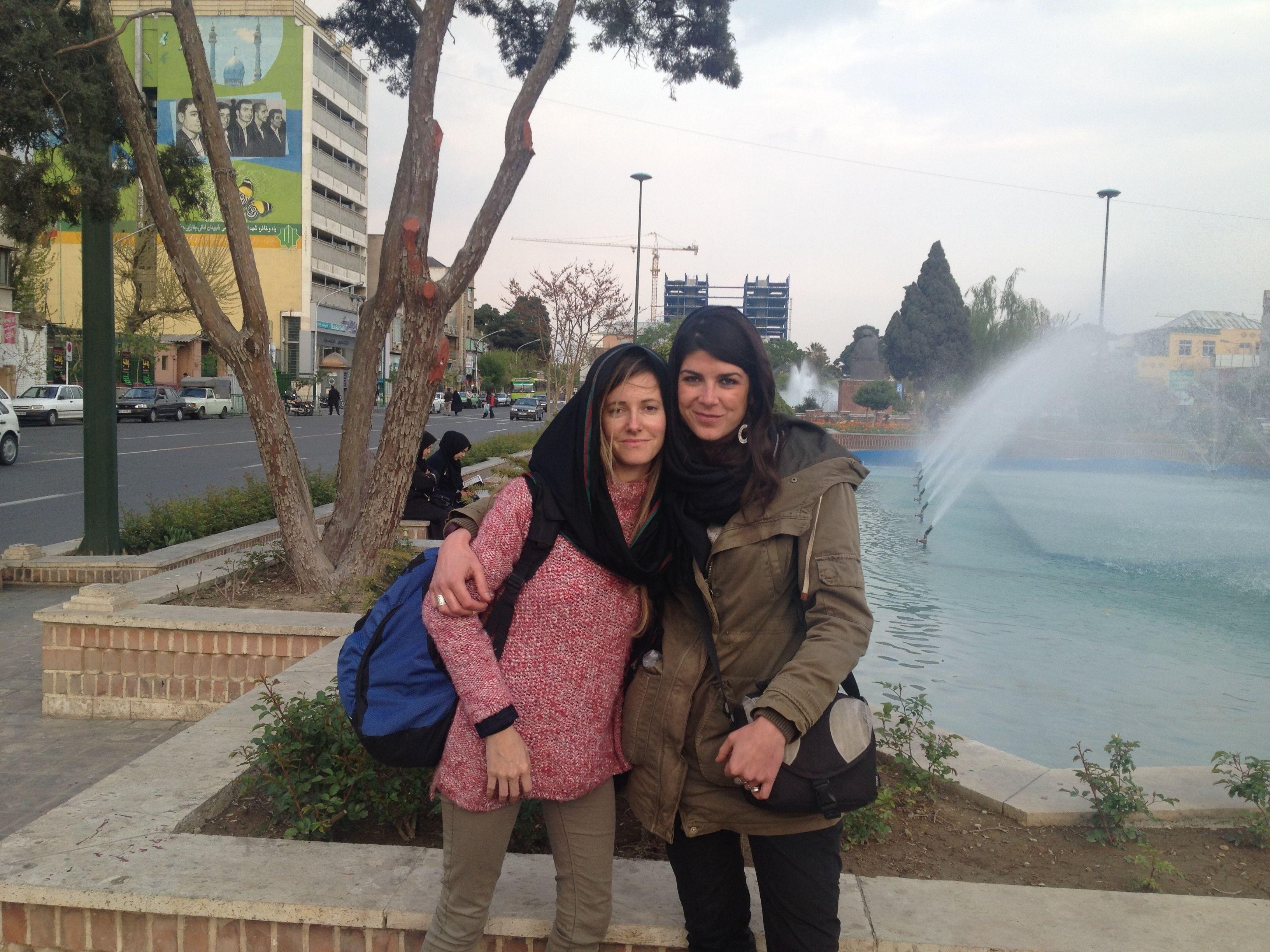 Con Eleonora Vio en Teherán