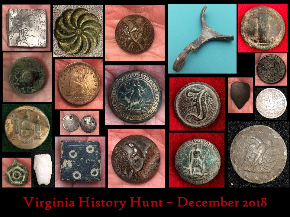 Civil War buttons, Confederate, Union, spur, seated liberty, colonial, Virginia, History Hunt, relic hunt